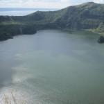 The inner lake/caldera.